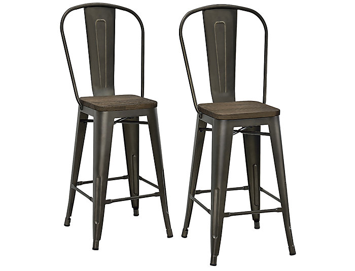 Luxor Counter Stool Set of 2, , large