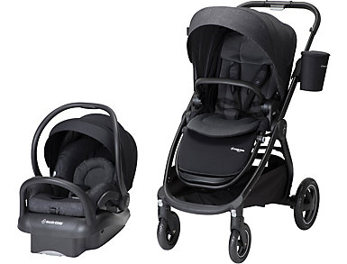 Adorra Travel System, Black, , large