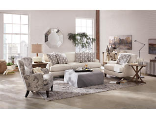 Omni Paisley Accent Chair, , large