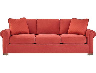 Cadillac Square Sofa, Red, large