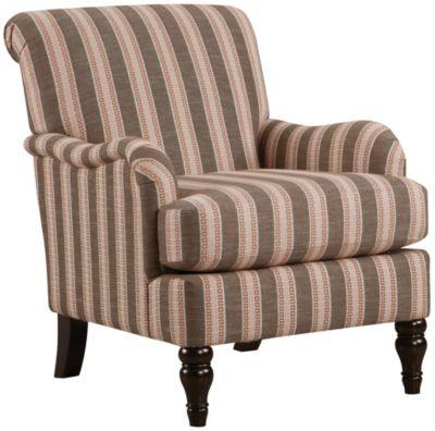 Gem Accent Chair, Brown, swatch