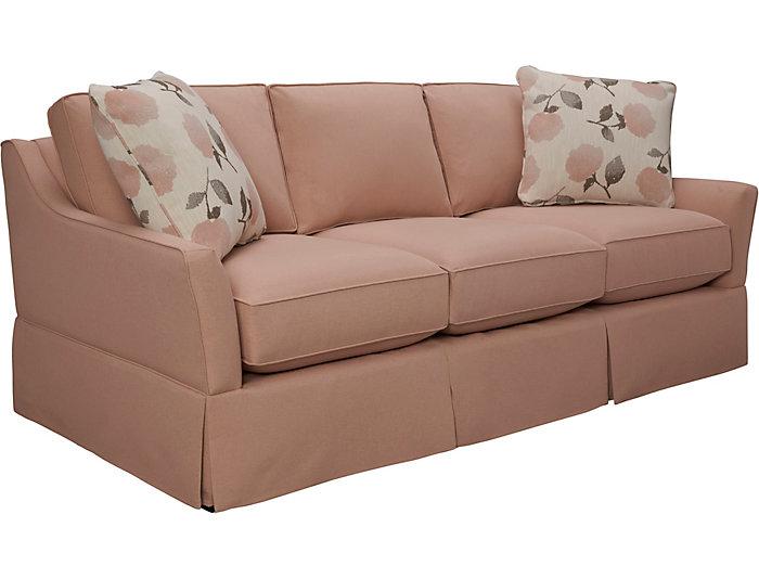 """Gem 82"""" Sofa, Blush, Blush, large"""