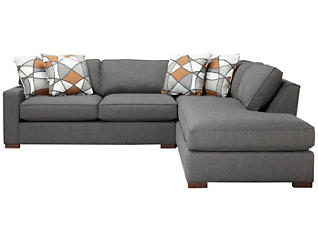 St Clair 2 Piece Left-Arm Facing Apartment Sofa Sectional, Grey, , large