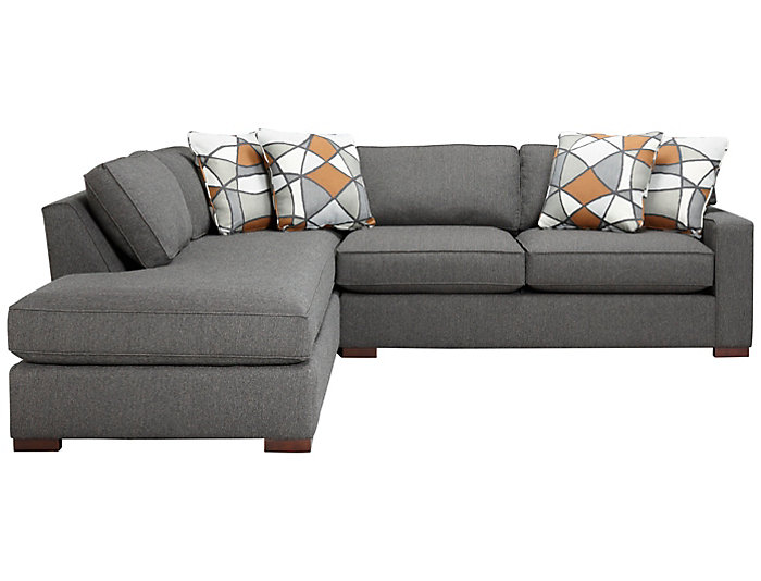 St Clair 2 Piece Right-Arm Facing Apartment Sofa Sectional, Grey, , large