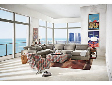 Ambassador 4 Piece Right-Arm Facing Chaise Sectional, , large
