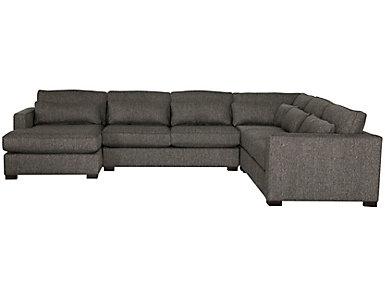 Ambassador 4 Piece Left-Arm Facing Chaise Sectional, , large