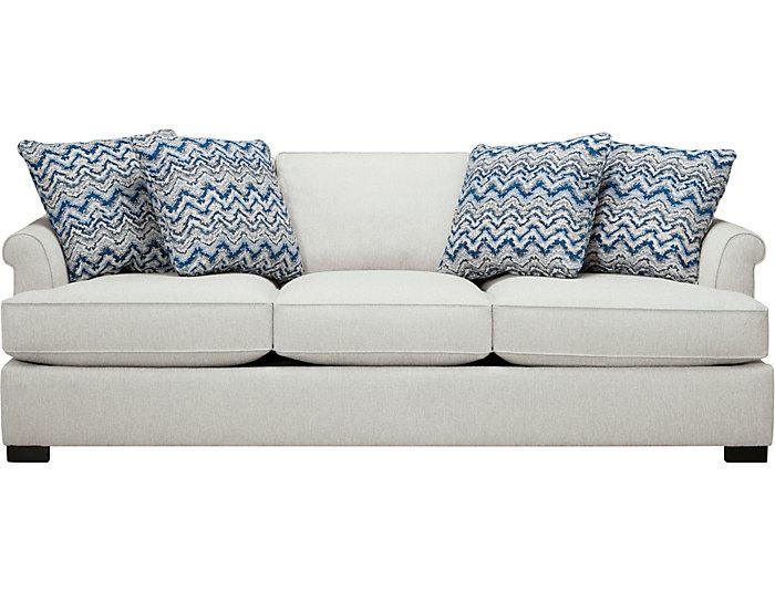 Lafayette Sofa, Ivory, Ivory, large
