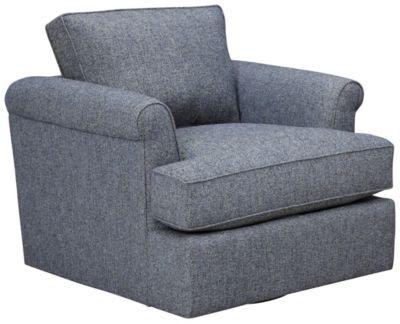 Lafayette Swivel Chair, Blue, swatch