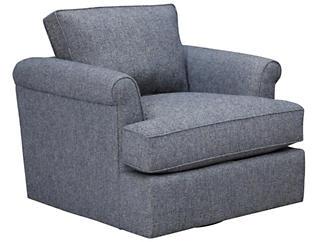 Lafayette Swivel Chair, Blue, large