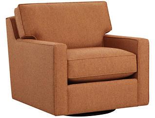 Chene Park Swivel Accent Chair, Orange, Orange, large
