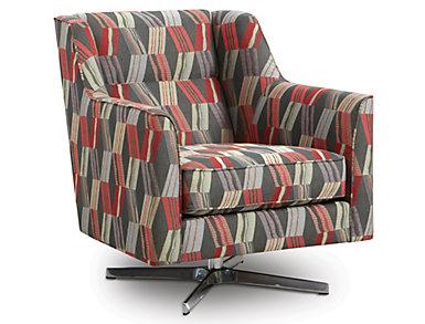 Ambassador Swivel Accent Chair, , large