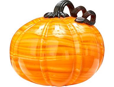 "5.5"" Glass Pumpkin, Orange, , large"