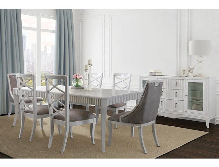 Enjoyable Hadley Chiffon White Dining Side Chair Machost Co Dining Chair Design Ideas Machostcouk