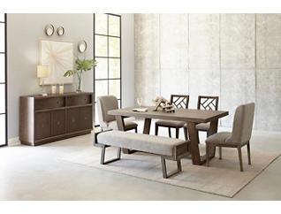 Palisades Hermosa Brown Rectangular Dining Table, , large