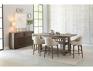Palisades Hermosa Brown Conversation Gathering Height Table, , large