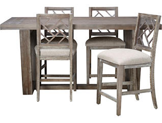Montrachet Antique Primavera 5 Piece Dining Set