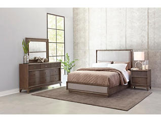 Palisades Queen Upholstered Bed, , large