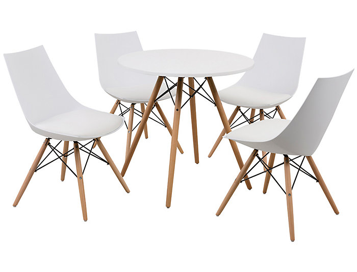 """Annette 27.5"""" White Table, , large"""