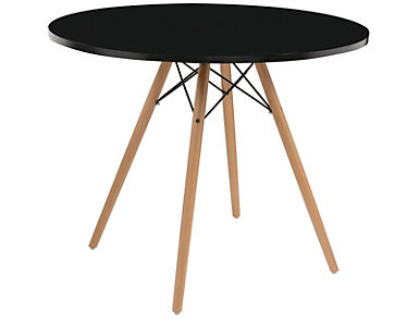 "Annette 40"" Black Table, , large"