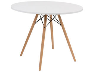 """Annette 40"""" White Table, , large"""