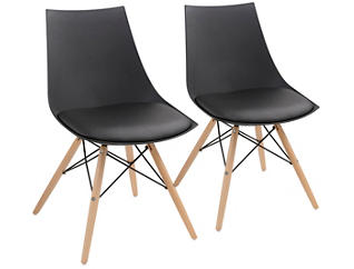 Annette Black Chair - Set of 2, , large