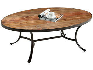 Berkeley Oval Coffee Table, Brown, , large