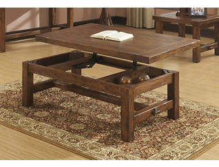 Lift Top Coffee Table, Brown, , large