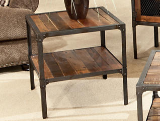 Laramie End Table, Brown, , large