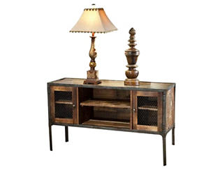 Laramie Sofa Table, Brown, , large