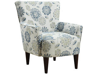 Flower Power Chair, Teal, , large