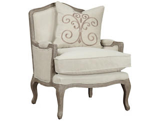 Salerno Chair with Pillow, Beige, , large