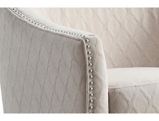 Kismet Beige Accent Chair, Beige, large