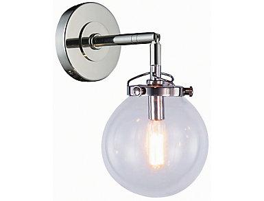 Leda 1 Light Nickel Sconce, , large
