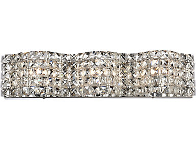 Living District Tate Wall Sconce Chrome, , large