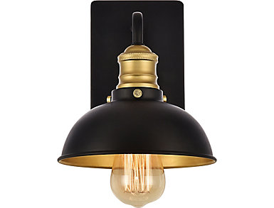 Living District Anders Wall Sconce Black, , large