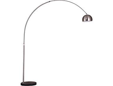 Living District Arcis Arc Lamp Satin Nickel, , large
