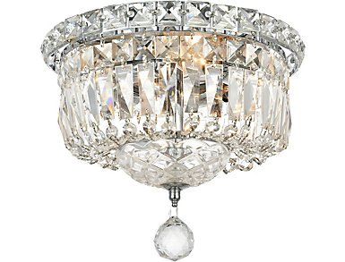 Tranquil 4 Light Chrome Flush Mount, , large