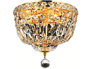 Tranquil 4 Light Gold Flush Mount, , large