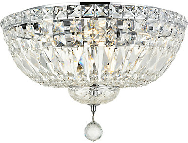 Tranquil 6 Light Chrome Flush Mount, , large
