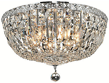 Tranquil 8 Light Chrome Flush Mount, , large