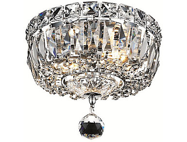 Tranquil 2 Light Chrome Flush Mount, , large