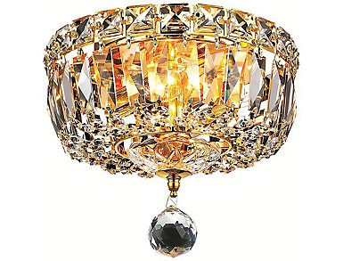 Tranquil 2 Light Gold Flush Mount, , large