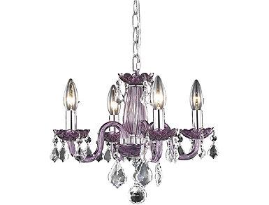 Rococo 4 light Purple Pendant, , large