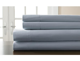 King 400 Thread Count Cotton Sheet Set, Light Blue, , large