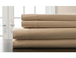 King 400 Thread Count Cotton Sheet Set, Taupe, , large