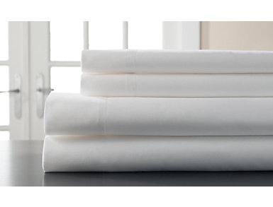 King 400 Thread Count Cotton Sheet Set, White, , large