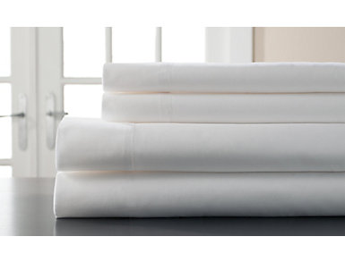 Queen 400 Thread Count Cotton Sheet Set, White, , large