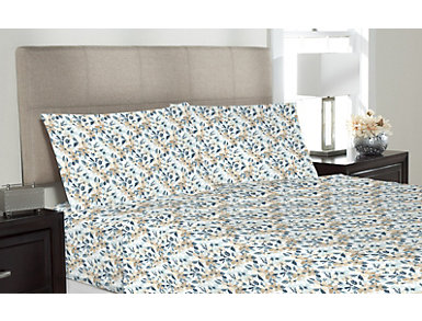 King Cassidy Floral Sheet Set, White, , large