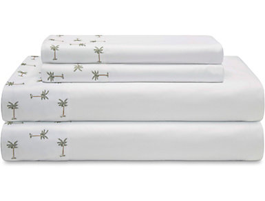 Twin Microfiber Sheet Set, Palm Tree, , large
