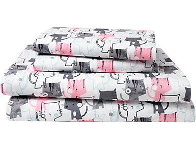Juvenile Kitty Sheet Set, Twin, , large